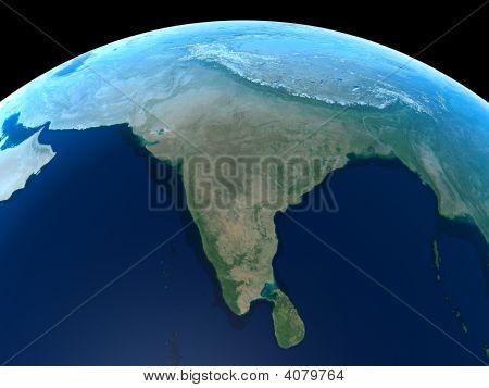 Erde-Indien