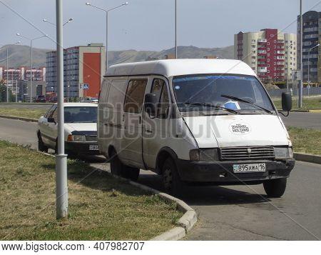 Kazakhstan, Ust-kamenogorsk, July 21, 2020: Gaz 2705 (gazelle). Russian Light Commercial Vehicle. Au