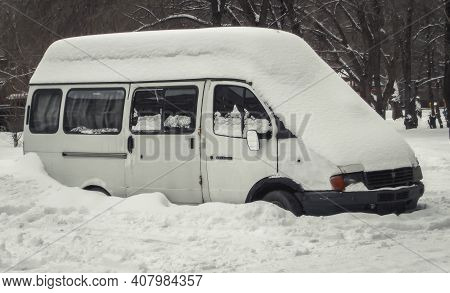 Kazakhstan, Ust-kamenogorsk, February 7, 2020: Gaz 2705 (gazelle). Russian Light Commercial Vehicle