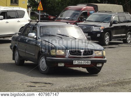 Kazakhstan, Ust-kamenogorsk, June 2, 2020: Gaz 3110 (volga). Old Car
