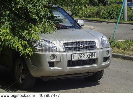 Kazakhstan, Ust-kamenogorsk, June 12, 2020: Hyundai Tucson First Generation (jm; 2004)