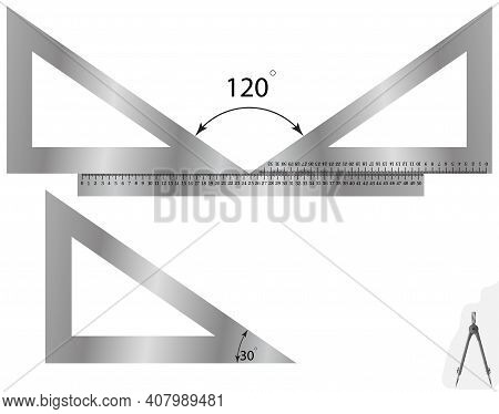 Constructing An Angle Using A Ruler And A Triangle, On The Album Page.