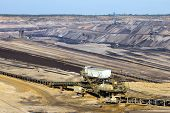 Brown coal open pit mine in Germany poster