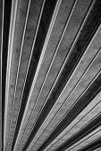 Abstract Metal Background in Black and White poster