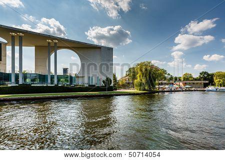German Chancellery (bundeskanzleramt) Building Near Reichstag In Berlin, Germany