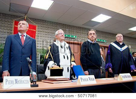 Cassino, Italy - Oct 05: Conferment Of The Degree To Honoris Causa To Sergio Marchionne