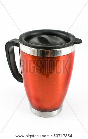 Red Thermos For Coffee