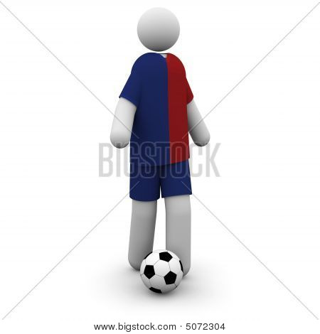 Barcelona Soccer Player at the 2009 European Championships Cup's Final poster