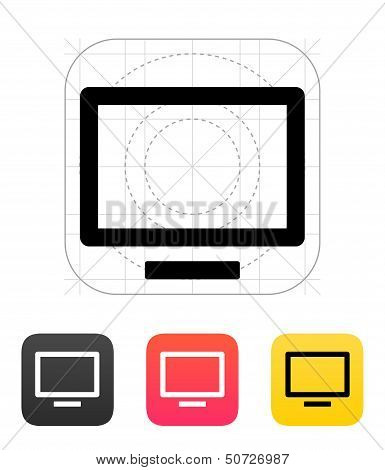 Flatscreen TV icon. Vector illustration.