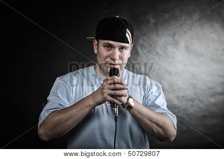 Rap Singer Rapper Man With Microphone