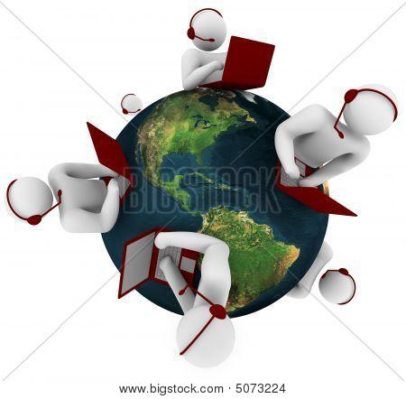 Customer Support-Netzwerk global