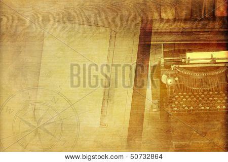 Vintage Writer Background