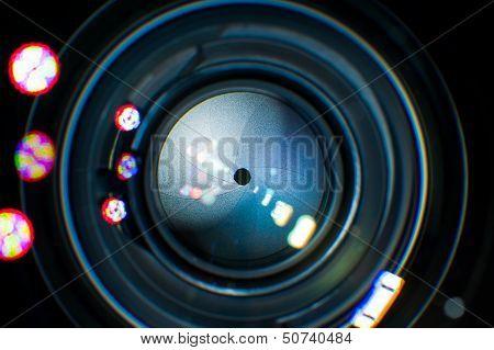 Lens Iris Closeup