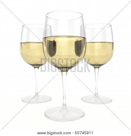 3 Glasses Of White Wine