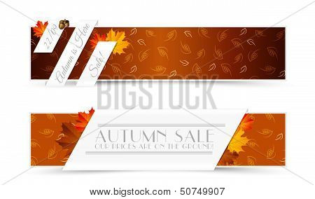 Set Of Autumn Banners
