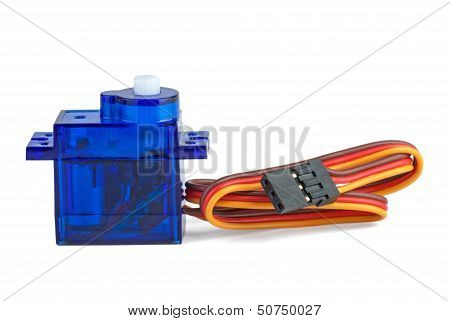 Small Blue Servo-unit For Rc Modelling