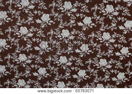 Brown Floral Fabric.