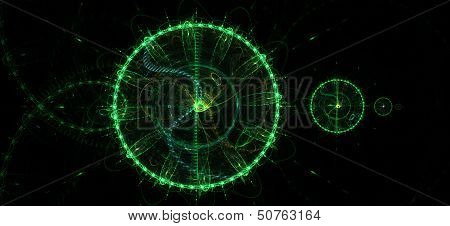 Abstract Greenish Background