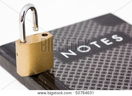 Padlock On Notepad