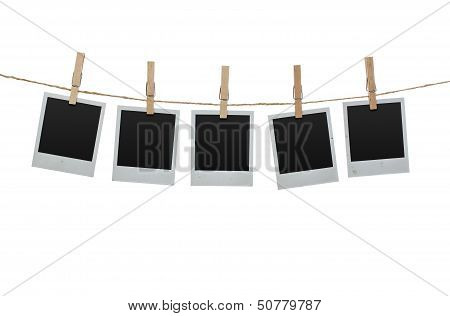 Blank Photos On The Clothesline