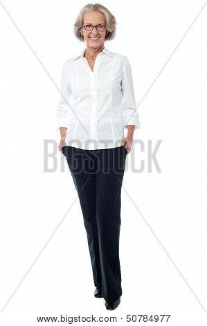 Aged Woman In Corporate Attire