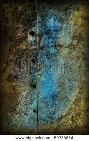 Grungy Modern Background In Yellow And Blue