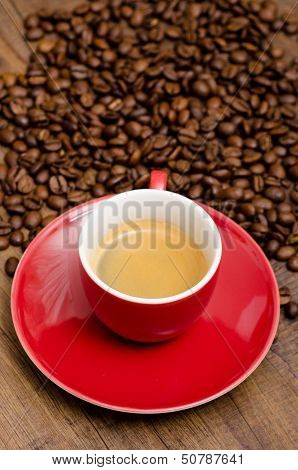 Red Cup With Espresso
