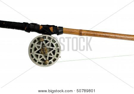Fishing-rod With Old Spinning-wheel