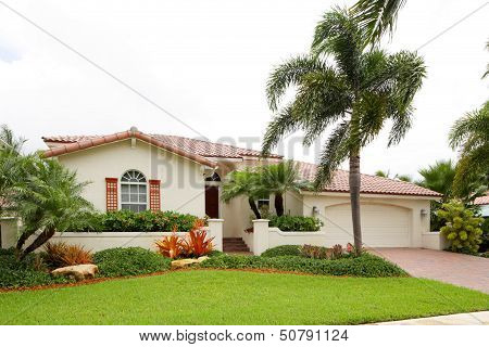 Stock Image Of A Single Family House