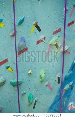 Blue Climbing Wall