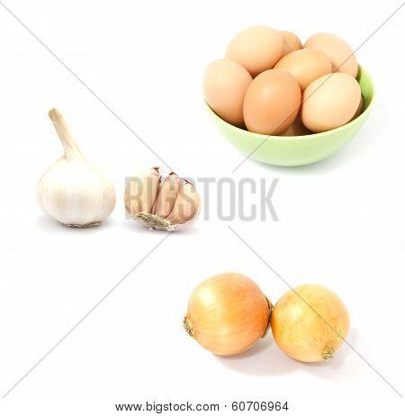 Fresh Food On White Background