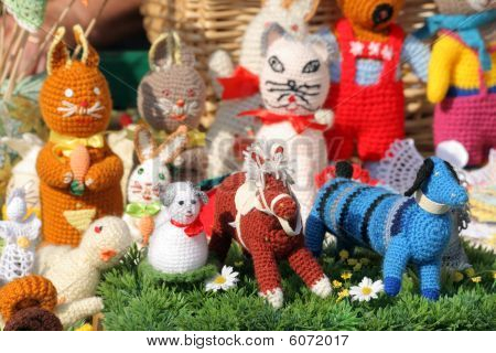 Figurines at the street market