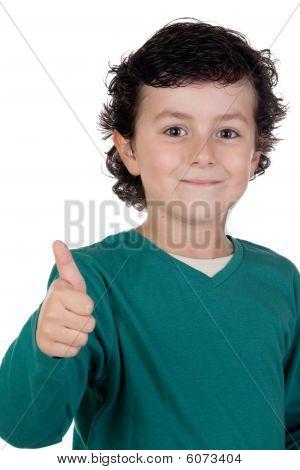 Happy Child Saying Ok