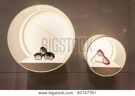 Silvian Heach Glasses On Display At Mido 2014 In Milan, Italy