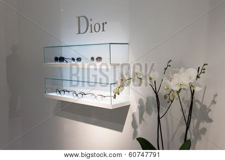 Dior Glasses On Display At Mido 2014 In Milan, Italy