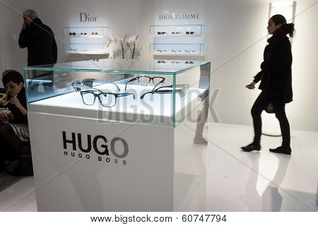 Hugo Boss Glasses On Display At Mido 2014 In Milan, Italy