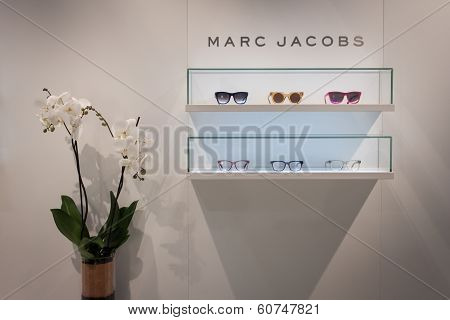Marc Jacobs Glasses On Display At Mido 2014 In Milan, Italy