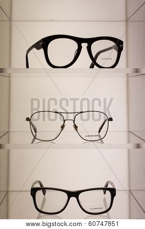 Glasses On Display At Mido 2014 In Milan, Italy