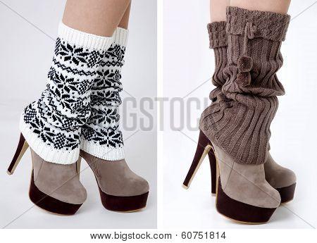legs wearing gaiters