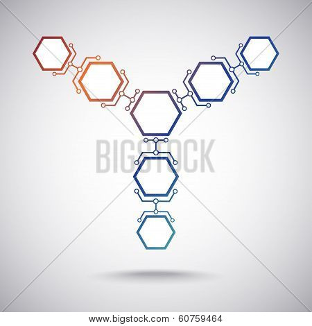 Communication Of Seven Hexagonal Cells