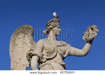 Statue In The Castle Of Versailles, Yvelines, France