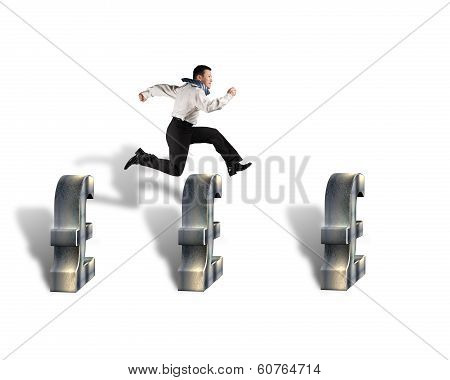 Jumping Over Pound Symbol Obstacles