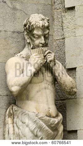 Statue Of Pan Taken At The Pakr Of Massandra Palace, Yalta, Crim