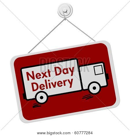 Next Day Delivery Sign