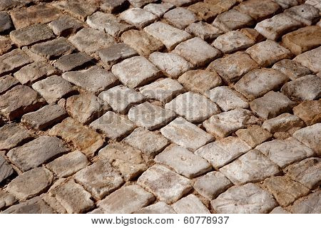 Rough texture of the Cobblestone . . poster