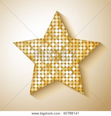 Shiny sequins star. Eps 10 vector illustration