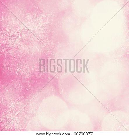 Elegant Grunge  Pink Christmas Light Bokeh