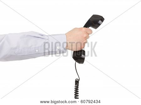 Businessman Hand With Phone.