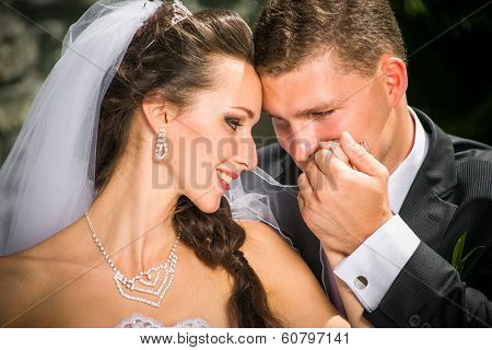 Beautiful Bride With Groom