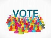 Abstract concept vector illustration about people voting poster
